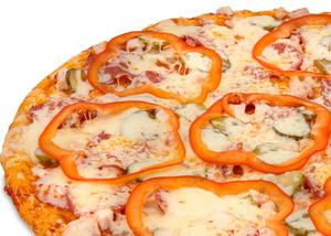 Заказать пиццу куриную с овощами